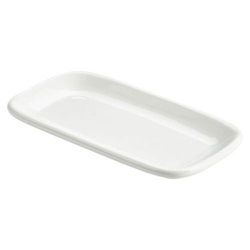 Royal Genware Rectangular Rounded Edge Plate 19.5 x 10cm (Pack of 6)