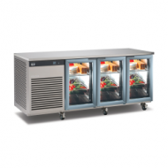 Foster EcoPro 3 door counter fridge with glass doors