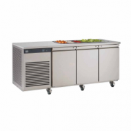 Foster EcoPro 3 door counter fridge with saladette