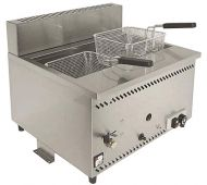 Parry Single Tank Twin Basket Counter Top Gas Fryer AGF