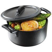 Belle Cuisine Casserole Dish C/W Lid Black 45cl
