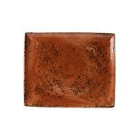 Steelite Craft Rectangular Two Plate Terracotta