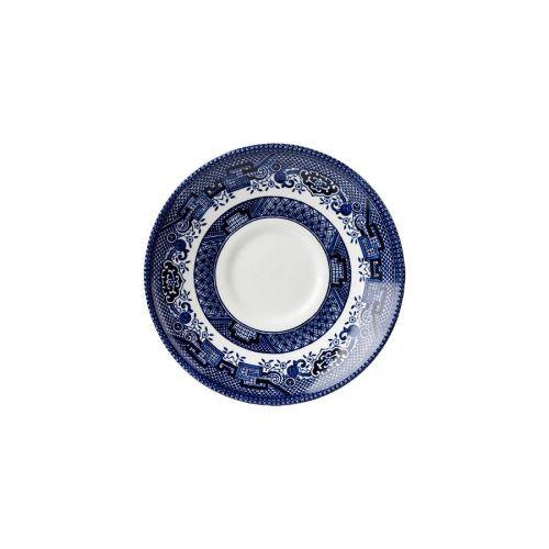 Blue Willow Georgian Saucer 14.1cm 5.5in