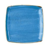 Cornflower Blue Deep Square Plate 26.8cm