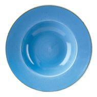 Cornflower Blue Wide Rim Bowl 28cm