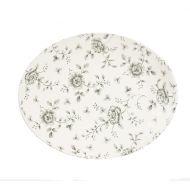 Rose Chintz Grey Grey Rose Chintz Oval Plate