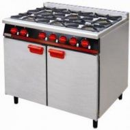 Bartlett Yeoman 6 burner gas range with convection oven