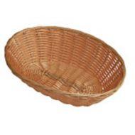 Basket Brown Polywicker Oval 23cm