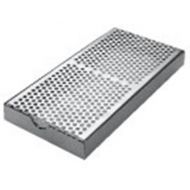 Drainer & Drip Tray Silver Rectangular