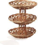 3 Tier Cake Stand Basket Round 35cm