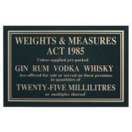 Sign - Weights & Measure 25ml