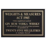 Sign - Weights & Measure 35ml