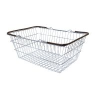19 Liter Shopping Basket Brown Handles