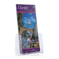 1/3 A4 Card & Leaflet Holder Clear Acrylic