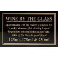 Sign - Wine By The Glass 125 & 175ml