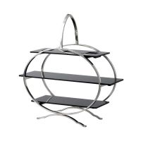 Cake Stand S/Steel With Three Acrylic Plates