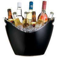 BarCraft Black Acrylic Drinks Pail / Cooler