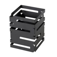 6in Square Black Steel Multi Level Riser - 8in High