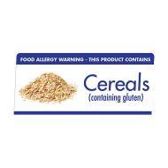 Allergen Buffet Notice Cereals Contain Gluton