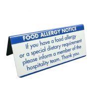 Allergen Buffet Notice Dietary Requirements