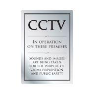 CCTV Warning Sign Silver