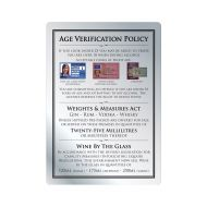Age/Weights & Measures 25ml Sign Silver