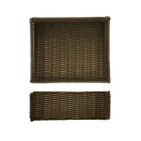 Lisbon Foldable Poly Wicker 1/2 Size Basket
