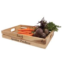 Crate 'Fresh Garden Produce' In Rustic Acacia