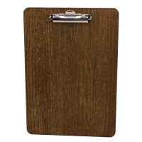 A4 Wooden Clipboard 240 x 340 4mm Dark Oak