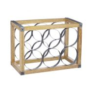 6-Bottle Metal / Wooden Wine Rack