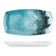 Blue Larnaca Sand Melamine Oblong Plate 355x190x25mm