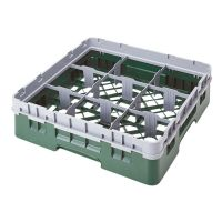 Cambro Camrack Glass Rack 9 Compartments Green