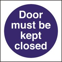 Kitchen Food Safety Door Must Be Kept Closed