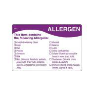 Allergen Label 76 x 51mm
