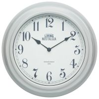 Living Nostalgia Vintage Grey Wall Clock