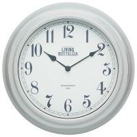 Living Nostalgia Vintage Grey Wall Clock