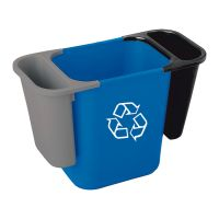Deskside Recycling Saddle Bin Blue 4.5ltr