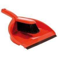 Dustpan And Brush Set Soft Brush Red