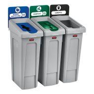 87 Litre Recycling Bin 3 Stream Bundle