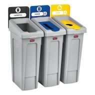 87 Litre Recycling Bins 3 Stream Bundle