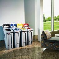 87 Litre Recycling Bins 4 Stream Bundle