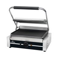 Chefmaster Large Single Contact Grill - Ribbed