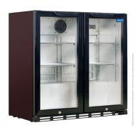 Arctica Black Double Door Bottle Cooler
