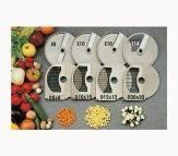Chefquip Veg Prep Cubing Discs