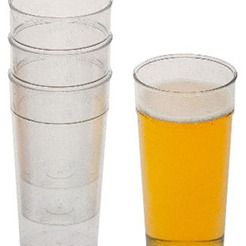 Plastic and disposable drinking vessels